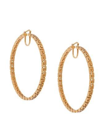 Versace Grecamania Hoop Earrings - Farfetch