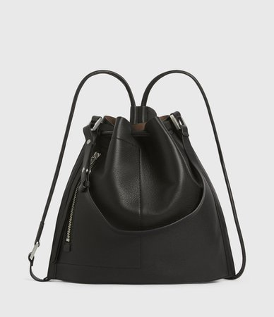 ALLSAINTS US: Womens Lear Leather Backpack (burnt_sienna_red)
