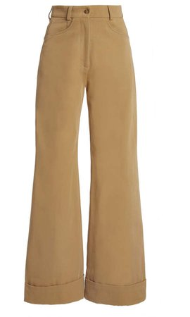ARJE Coralie Wide Leg Cotton-Blend Pants