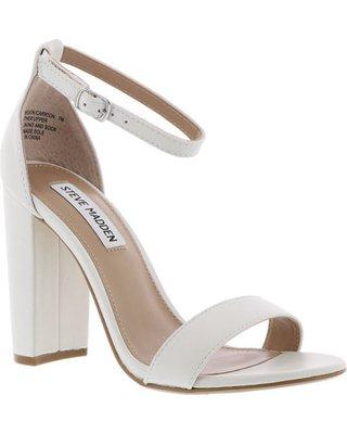 Amazing Deal on Steve Madden Carrson Women's White Sandal 8.5 M