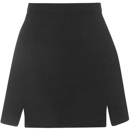 TOPSHOP TALL A-Line Notch Hem Skirt