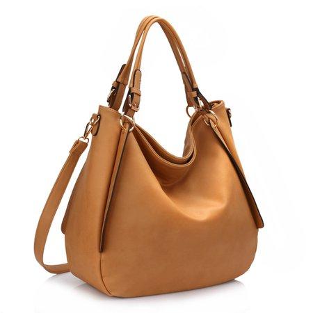Tan Slouch Tote Bag - Elsie's Attic