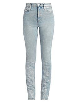 Hudson Jeans Holly metallic acid wash jeans