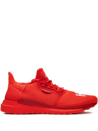 Shop red adidas by Pharrell Williams Solar Hu Glide sneakers with Express Delivery - Farfetch