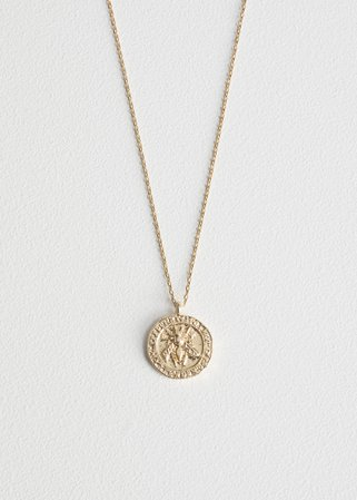 Bee Embossed Pendant Necklace - Gold - Necklaces - & Other Stories US