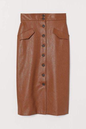 Calf-length Skirt - Orange