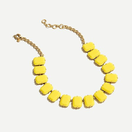 J.Crew: Gold-plated Rectangular Candy Stone Necklace For Women