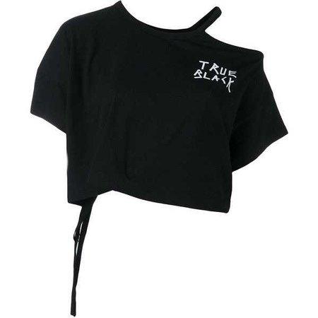 Ann Demeulemeester 'True Black' cropped T-shirt ($290)