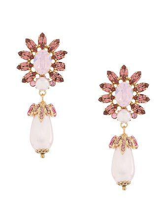 Dolce & Gabbana Faux-Crystal Drop Earrings | Farfetch.com