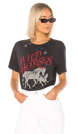 DAYDREAMER Wild Horses Weekend Tee in Vintage Black | REVOLVE