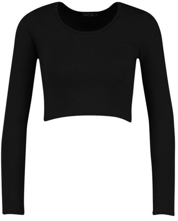 Basic Long Sleeve Crop Top