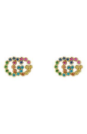 Gucci Double-G Multistone Stud Earrings | Nordstrom