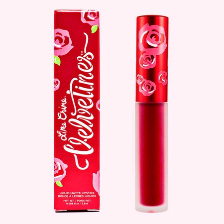 Red Rose: Ruby Red Matte Velvetines Vegan Lipstick - Lime Crime