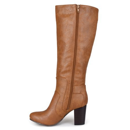 Brinley Co. - Brinley Co. Wide Calf Buckle Detail High Heeled Boots - Walmart.com - Walmart.com