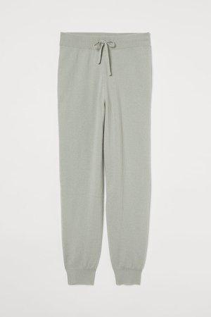 Fine-knit Cashmere Joggers - Green