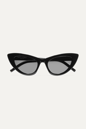 Black Lily cat-eye acetate sunglasses | SAINT LAURENT | NET-A-PORTER