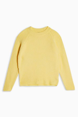 Yellow Fluffy Knitted Sweater | Topshop