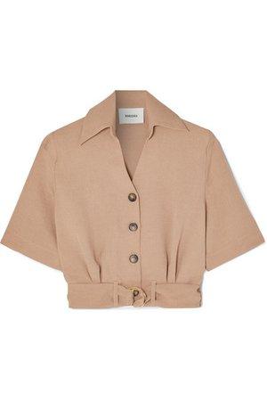 Nanushka | Cayne belted woven shirt | NET-A-PORTER.COM