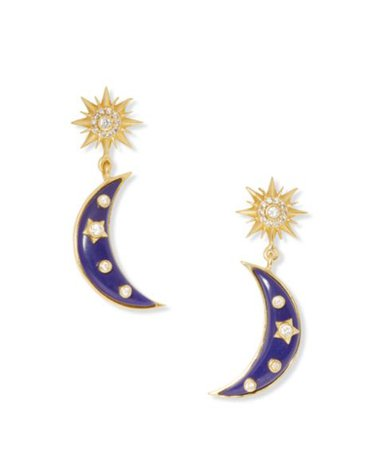 Sole Society Double Drop Post Earrings | Sole Society Shoes, Bags and Accessories gold blue
