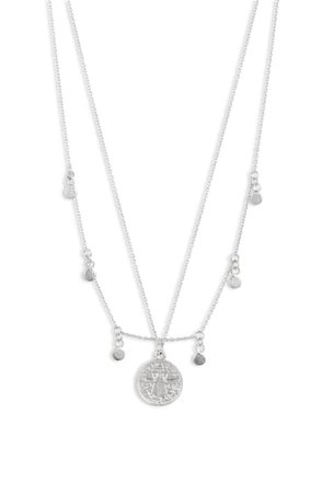 Sterling Forever Layered Charm Necklace | Nordstrom