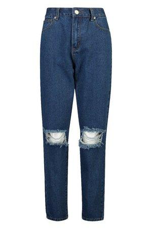 Mid Rise Boyfriend Jeans | Boohoo