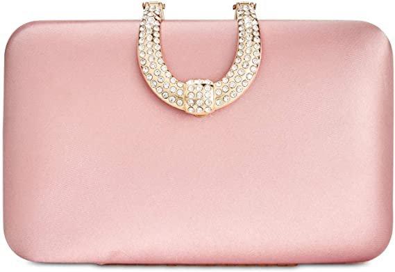 Amazon.com: I.N.C. Danyele Satin Clutch Pink: Clothing