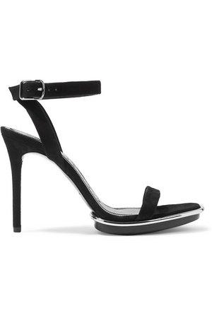 Alexander Wang | Cady metallic-trimmed suede platform sandals | NET-A-PORTER.COM