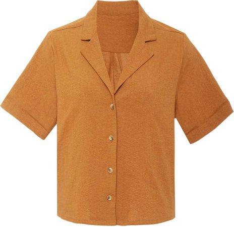 The Maq Linen-Blend Top