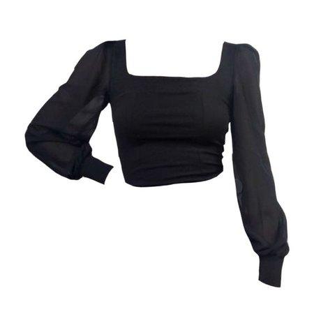 black shirt top png