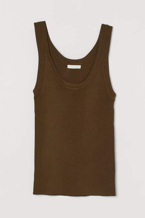 Ribbed Tank Top - Green