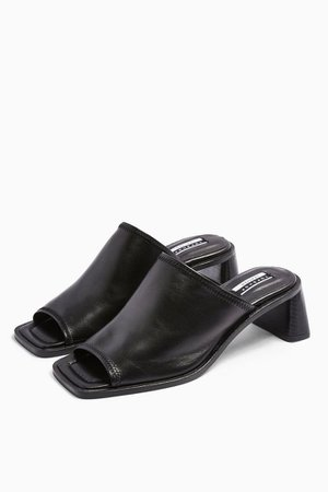 NESS Soft Leather Mules | Topshop