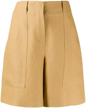 High Waisted Panelled Shorts