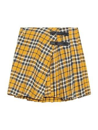 Maje Tartan Plaid Pleated Mini Skirt