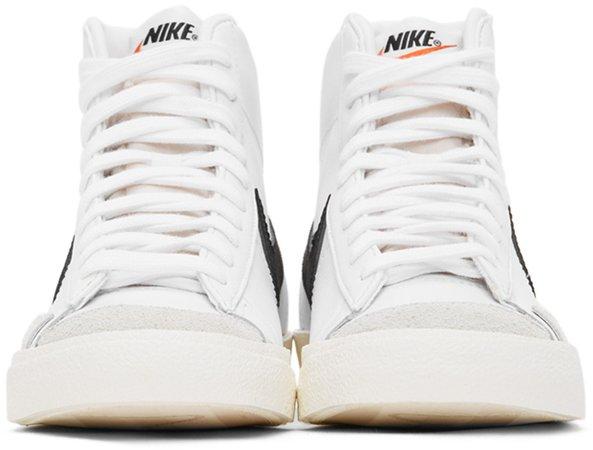 Nike: White & Black Blazer Mid '77 Vintage Sneakers | SSENSE