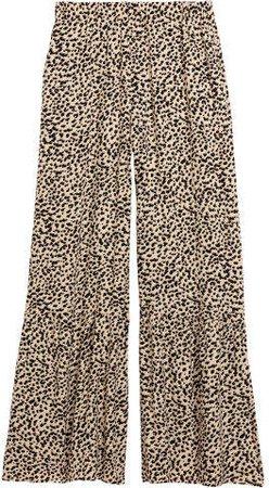Wide-leg Pants - Beige