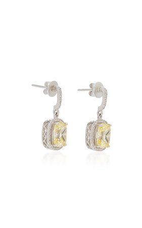 18k White Gold Vermeil, Sapphire, And Diamond Earrings By Anabela Chan   Moda Operandi
