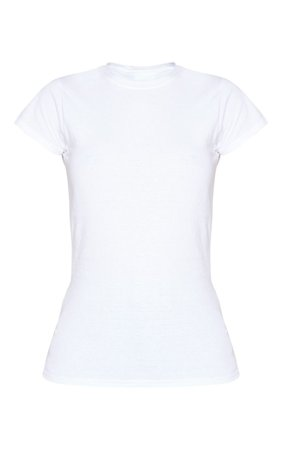 White Fitted T Shirt | PrettyLittleThing USA