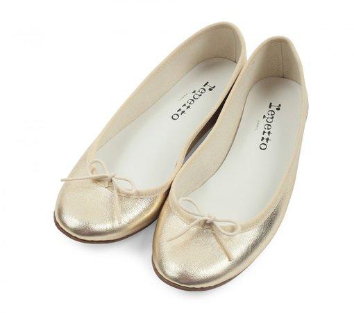 Cendrillon ballerinas Metallic calfskin Light gold