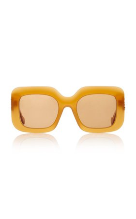 Square-Frame Acetate Sunglasses by Loewe | Moda Operandi