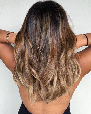 Caramel Ombre Hair   girl, love e fashion