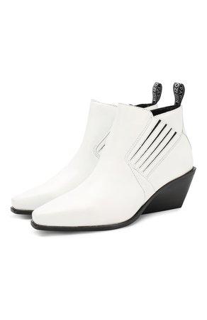 Женские белые кожаные ботинки rider KENZO — купить за 29950 руб. в интернет-магазине ЦУМ, арт. F962BT354L66