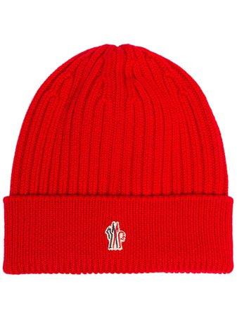 Moncler Grenoble Logo Knit Beanie Hat - Farfetch