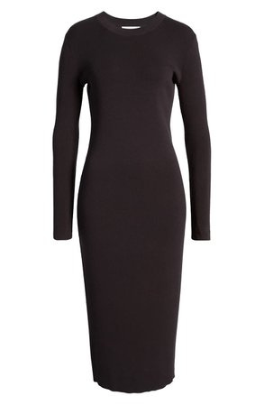 Treasure & Bond Crewneck Long Sleeve Midi Sweater Dress | Nordstrom