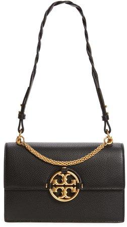 Miller Leather Flap Shoulder Bag