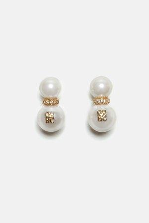 Carolina Herrera, maggie pearls earrings