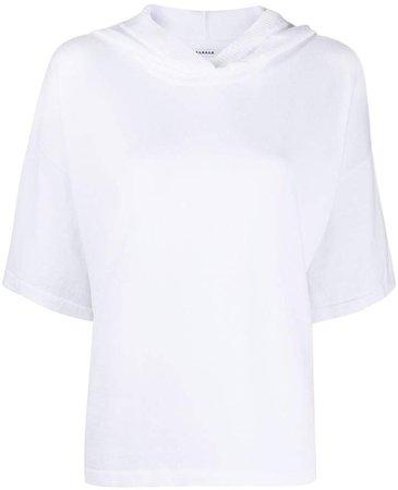 hooded short-sleeve sweatshirt
