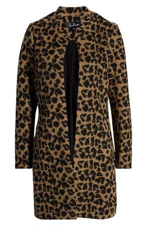 Lulus Feline Fantastic Leopard Print Coat | Nordstrom
