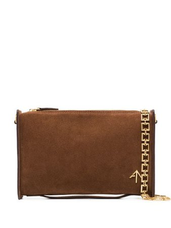 Shop brown Manu Atelier Carmen chain-strap shoulder bag with Express Delivery - Farfetch