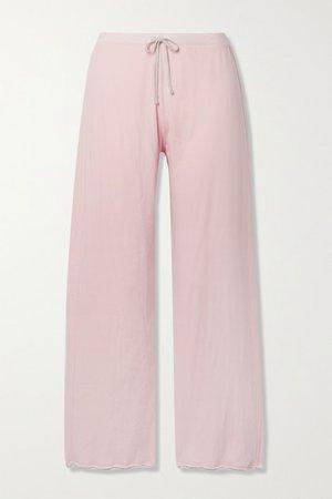 Net Sustain Guinevere Organic Pima Cotton-jersey Track Pants - Pastel pink