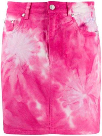 MSGM tie-dye Denim Mini Skirt - Farfetch
